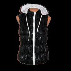 Дамска грейка с качулка черна